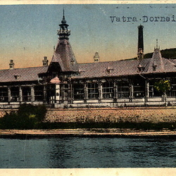 Postcard of bath house. CREDIT: From the private archive of LookArt Graphics - Chirilus