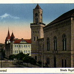 Photograph of town hall, Vatra Dornei. CREDIT: From the private archive of LookArt Graphics - Chirilus