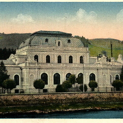 Postcard of the casino building, early 20th century. CREDIT: From the private archive of LookArt Graphics - Chirilus