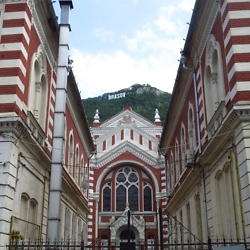 Brasov's functioning synagogue, constructed by the Neologue (Hungarian Reform) congregation in 1901. Renovated in 2007. CREDIT: Timothy Ryan Mendenhall
