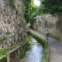 Pathway along the medieval city walls in Brasov. CREDIT: Timothy Ryan Mendenhall