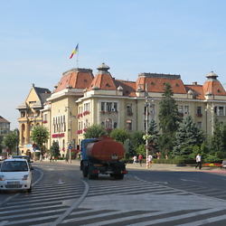 Part of the central boulevard in Târgu Mureș. CREDIT: Julie Dawson.