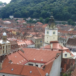View of the town square and old town hall in Brasov. CREDIT: Timothy Ryan Mendenhall