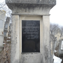 Gravestone for Alexander Horowitz, technical director of the Iţcani sugar factory. CREDIT: Julie Dawson