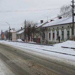 Austrian-era buildings on the road from Radăuţi to Siret. The railway is now defunct. CREDIT: Julie Dawson