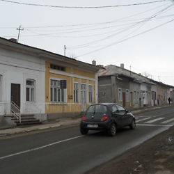 The main street in historic Burdujeni, called the Federgas in Yiddish. Many Jewish families had shops in the front and their homes in the back of these buildings. CREDIT: Julie Dawson