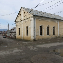 The synagogue in Gura Humorului, located in the former Jewish neighborhood. CREDIT: Timothy Ryan Mendenhall