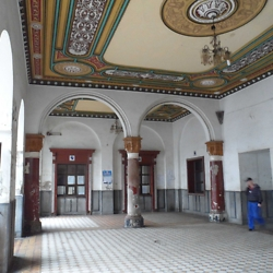 Inside the Iţcani train station, constructed in the 19th century by the Austrian Empire, and now rarely used, The interior appears to have been partially renovated recently. CREDIT: Julie Dawson