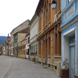 Pedestrian zone in the old town of Brasov. CREDIT: Timothy Ryan Mendenhall